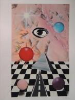 X CHIESA RENATO NATALE PIRAMIDE SOLE SERIGRAFIA 70X100 Firma CERTIFICATO Arte Moderna E Contemporanea - Stampe