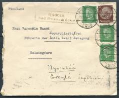 1933 Germany Bad Wilsnach Landspost Haaren Brief - Helsinki - Hyvinkää Finland - Briefe U. Dokumente