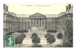Cp, 80, Amiens, Le Palais De Justice, Voyagée - Amiens