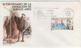 SPAGNA - 1980 - IV CENTENARIO DE LA FUNDACION DE BUENOS AIRES - FDC - FDC