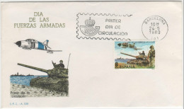 SPAGNA - 1980 - DÍA DE LAS FUERZA ARMADAS - FDC - FDC