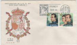 SPAGNA - 1975 - PROCLAMACION DE S.M. EL REY DON JUAN CARLOS I - 2 FDC - FDC