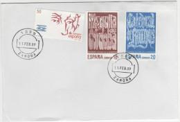 SPAGNA - 1989 - PATRIMONIO CULTURAL DE LA HUMANIDAD - ZAMORA - TORO - FDC