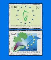IE 1990-0003, European Events, Set (2V) MNH - 1949-... Republic Of Ireland
