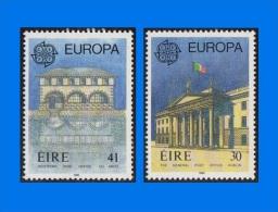 IE 1990-0007, Europa - Post Office Buildings, Set (2V) MNH - 1949-... Republic Of Ireland