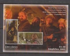 New Zealand 2002 Lord Of The Rings Amphilex Miniature Sheet MNH - FDC