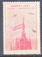 ITALY  AAMC 30  VIGNETTE  AEROPHILATELIC    CONCORSI  AEREI  GIORNATA- TALIEDO  1929  * - 1900-44 Vittorio Emanuele III
