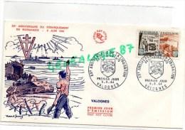 50 - VALOGNES - XXE ANNIVERSAIRE DU DEBARQUEMENT EN NORMANDIE -6 JUIN 1944-LIBERATION - 1960-1969