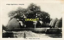 Tchad,  r�gion de Mosgoum, un village, cases en obus