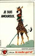 Image Ou Chromo    - LA VACHE QUI RIT - Gags De Gaston Lagaffe  - Je Suis Amoureux (Girafe) - Chromos