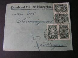 == DR Cv. Infla MeF 1923 Bahnpost - Covers & Documents