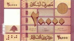 LEBANON P. 93a 20000 L 2012 UNC - Liban