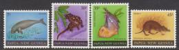 PAPUA NEW GUINEA, 1980 MAMMALS 4 MNH - Papua-Neuguinea