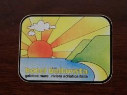 Hotel BELLAVISTA Riviera Adriatica Italia ( Zie Foto Voor Détail ) Zelfklever Sticker Autocollant ! - Publicidad