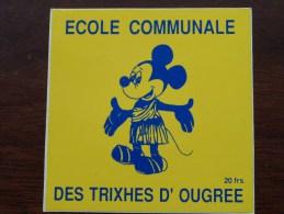 ECOLE COMMUNALE DES TRIXHES D'OUGREE ( 20 Frs ) ( Zie Foto Voor Détail ) Zelfklever Sticker Autocollant ! - Publicidad