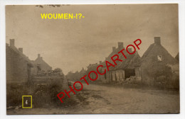 WOUMEN-!?-Carte Photo Allemande-Guerre 14-18-1WK-Militaria-BELGI EN-BELGIQUE-Flandern- - Diksmuide