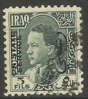 Iraq - 1934 King Ghazi Official 5f  FU   SG O194   Sc O76 - Iraq