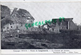 BELGIQUE - FLANDRE OCCIDENTALE- RUINES DE LANGEMARCQ  LE COUVENT PAR DERRIERE - GUERRE 1914-1915 - Langemark-Poelkapelle