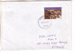 GOOD SLOVENIA Postal Cover To ESTONIA 2010 - Good Stamped: Art - Slovenia