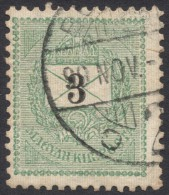 Hungary, 3 K. 1898, Sc # 37, Mi # 43XA, Used (3) - Hongrie