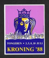 TONGEREN - KRONING '88  (S 1159) - Autocollants