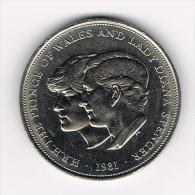 GREAT BRITAIN 25 NEW PENCE 1981 WEDDING CHARLES AND DIANA - 1971-… : Monnaies Décimales