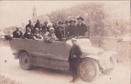 65 DEPART EN EXCURSION, Vieil Autocar, Carte Photo - France