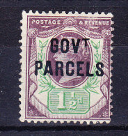 1887/90 SG 065 * Queen Victoria 1 1/2 D. Purple And Green Aufdruck GOVt PARCELS - 1840-1901 (Victoria)