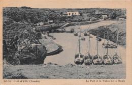 ¤¤  -   75   -  ILE D´YEU  -  Le Port Et La Vallée De La Meule  -  Voiliers -  ¤¤ - Ile D'Yeu