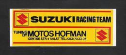 SUZUKI RACING TEAM. Tuning By Motos Hofman-Aalst  (S 1419) - Stickers