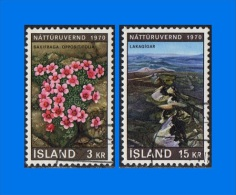 IS 1970-0001, Nature Conservation Year, Set (2V) VFU - Used Stamps