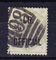 1882/1901 SG 07   Queen Victoria 1 S. Green Aufdruck I.R. OFFICIAL Gestempelt - 1840-1901 (Viktoria)