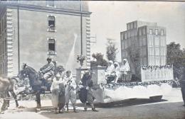 23745- Chalons Sur Marne -carte Photo Carnaval Char Cheval Hopital Infirmiere Militaire Soldat- Caserne - Boulve?