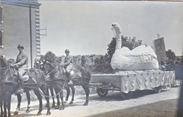 23746 Chalons Sur Marne -carte Photo Carnaval Char Cheval Attelage Leda Cygne Militaire Soldat- Caserne - Boulve? - Châlons-sur-Marne