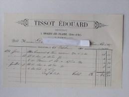 BRAZEY-EN-PLAINE (21): Facture 1891 Négociant TISSOT EDOUARD - France