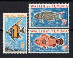 WALLIS - N° T37/39** - POISSONS - Wallis-Et-Futuna