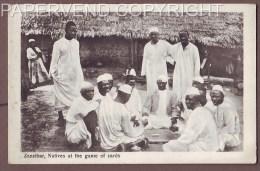 Zanzibar  Natives Playing Cards  Z84 - Autres