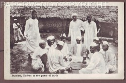 Zanzibar  Natives Playing Cards  Z84 - Cartes Postales