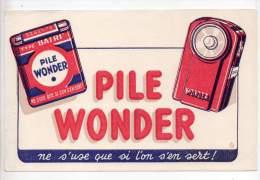 Buvard - Pile Wonder - Electricité & Gaz