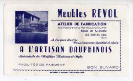 Buvard - Meubles Revol, Les Abrets, Isère - Buvards, Protège-cahiers Illustrés
