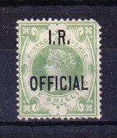 1882/1901 SG 015  Queen Victoria 1 S. Green Aufdruck I.R. OFFICIAL * - 1840-1901 (Victoria)