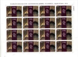 ESPAÑA 2014 - LAS EDADES DEL HOMBRE - EUCHARISTIA - ARANDA DE DUERO - PLIEGO DE  16 SELLOS - EDIFIL Nº 4887 - 2011-... Unused Stamps