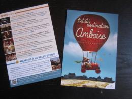 Carte : Cet Été Destination Amboise. 2013 - Centre-Val De Loire