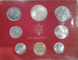 1970/VIII Vatican City 8-Coin Mint Set Unc Pope Paul VI CITTA DEL VATICANO - Vaticano
