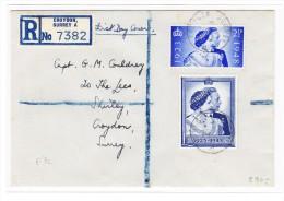 R-Brief Croydon Surrey Mit S.G. # 137 + 138  FDC 1948 - 1902-1951 (Könige)