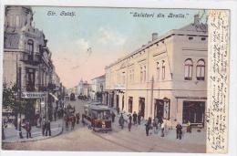 Romania - Salutari Din Braila - Strada Galati - Magazin Mihailescu - Tram - Carriage - Rumania