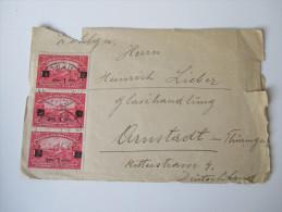 Jugoslawien / Serbien Brief Nach Deutschland Vrsac - Arnstadt. Nr. 162 Mehrfachfrankatur - 1919-1929 Kingdom Of Serbs, Croats And Slovenes