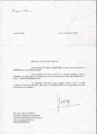JACQUES CHIRAC HOMME POLITIQUE FRANCAIS PRESIDENT DE LA REPUBLIQUE FRANCAISE SIGNATURE MANUSCRITE 1995 - Autographs