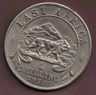 EAST AFRICA 1 SHILLING 1952 ANIMAL LION - Colonie Britannique