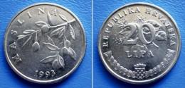 CROATIA  20 Lipa 1993 MASLINA (OLIVE BRANCH) - Croacia